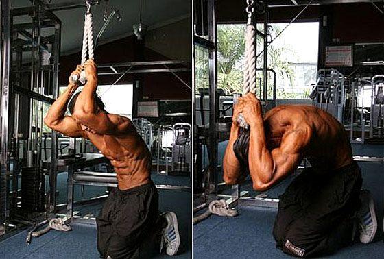 crunch à la poulie est un des meilleurs exercices abdo