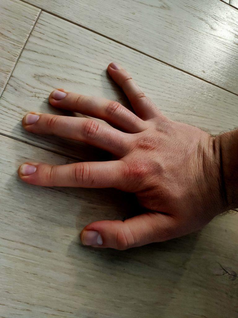 position de la main pour le handstand